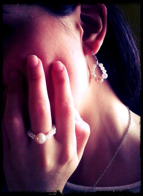 Parure! Orecchini + anello Handmade!