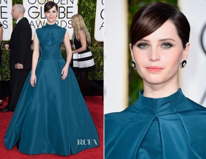 Felicity-Jones-In-Christian-Dior-Couture-2015-Golden-Globe-Awards