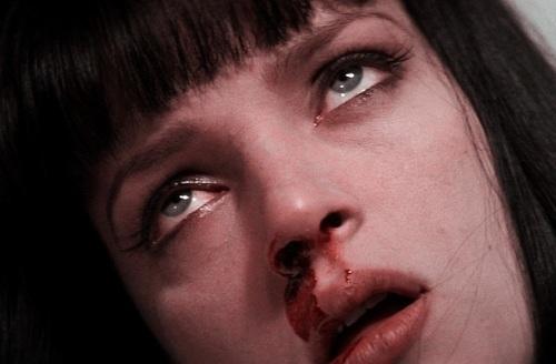 Mia Wallace in overdose